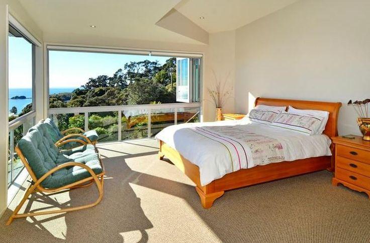 Atangi on Palm - Master Bed  #Waikehe #NZ #Accommodation