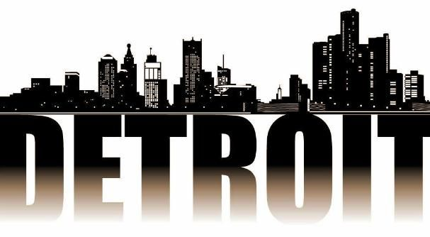 City of Detroit in Michigan