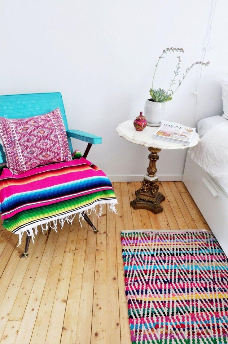 Trend alert: Mexican blankets and embroidery / Textiles mexicanos en tendencia: casahaus.net