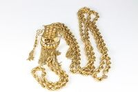 A Persian yellow gilt metal multi-link chain SOLD FOR £1600
