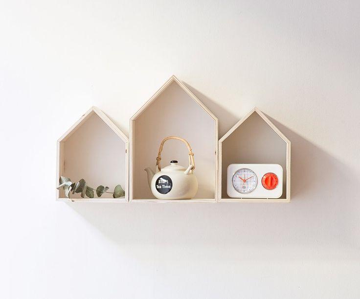 Set de 3 casitas estanterias