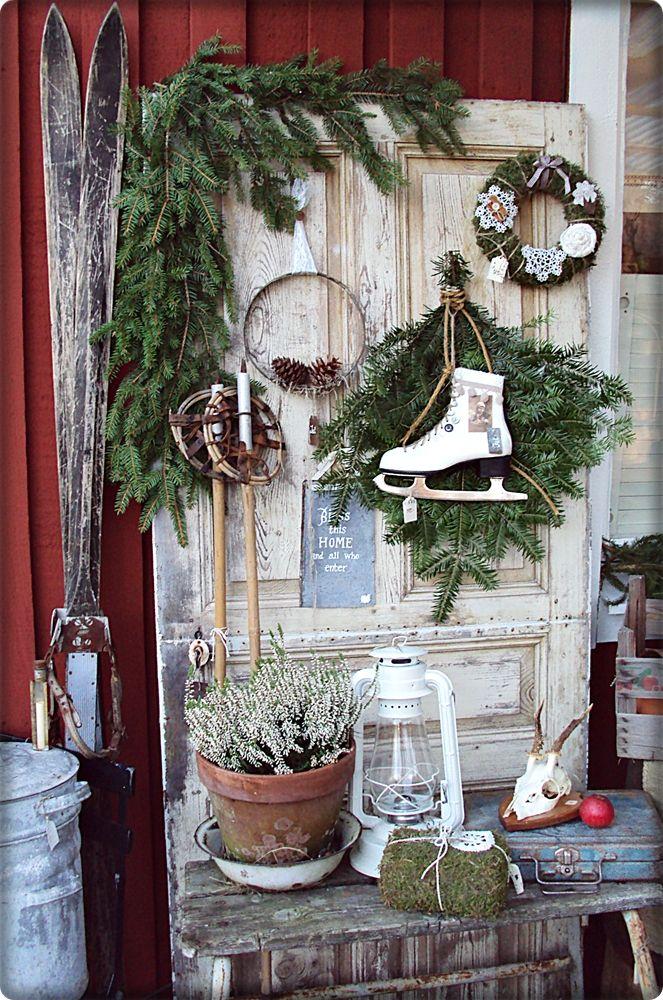 die 25 besten ideen zu weihnachtlicher hauseingang auf. Black Bedroom Furniture Sets. Home Design Ideas