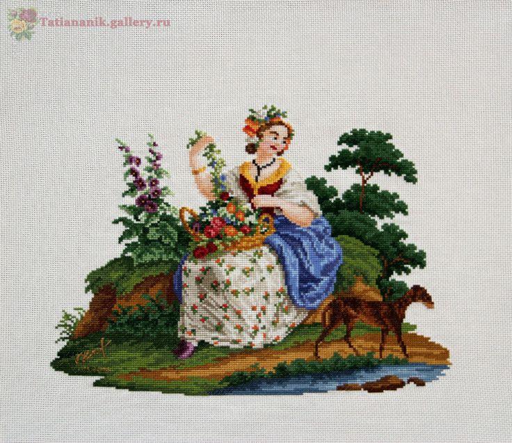 Gallery.ru / Фото #1 - Девушка с цветочной корзиной (завершен 30.03.2016) - Tatiananik