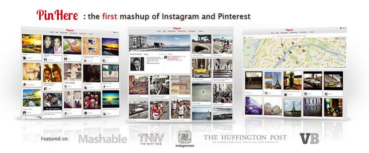 PinHere is the first mash-up of Instagram and Pinterest - Search Instagram photo Tag, Locations, Place and more...