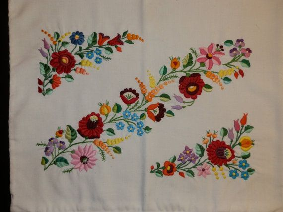 Embroidery handmade pillow Hungarian Kalocsa. by macaristanbul, $50.00