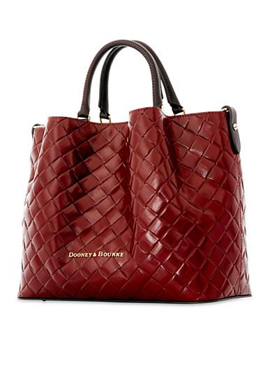 Dooney & Bourke City Woven Large Barlow Satchel