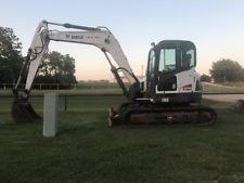 2009 Bobcat E80 Excavator Track Hoe Cab Heat & A/C Tracks apply to finance www.bncfin.com/apply excavators for sale - excavator financing
