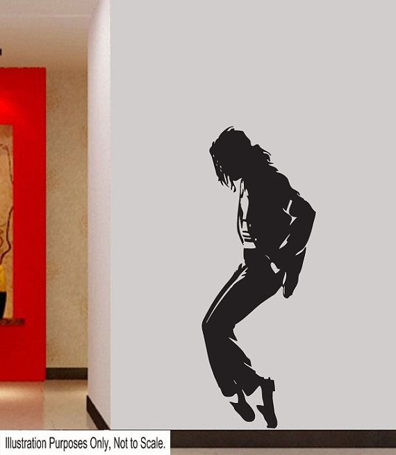 Xtra Large Michael Jackson Wall Stickers Wall Art Decal by Signz, £13.49