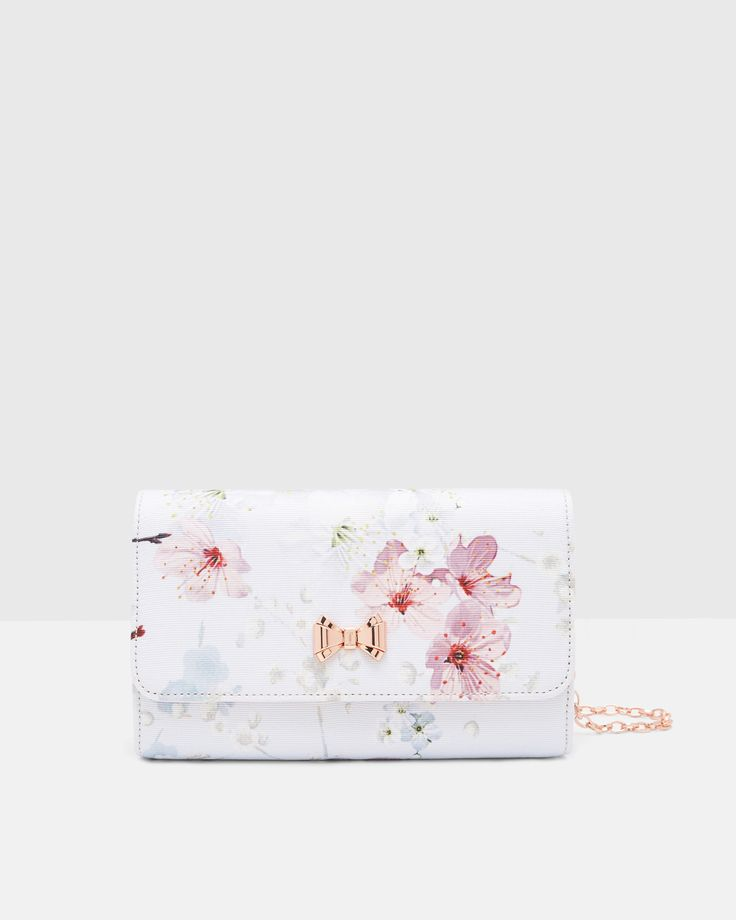 Oriental Blossom evening bag - Light Gray | Bags | Ted Baker  #WedwithTed @tedbaker