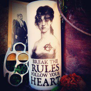 CANDLE - BREAK THE RULES Follow your heart.  www.coreterno.com