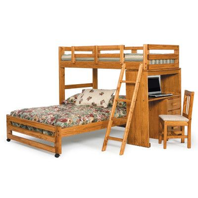 Chelsea Home Twin Over Full L Shaped Bunk Bed U0026 Reviews | Wayfair