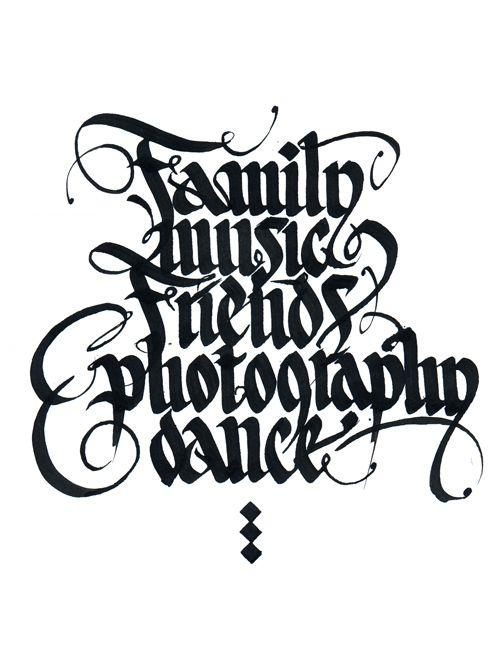 Caligrafía FMFPD por Lukas Vanco, a través de Behance