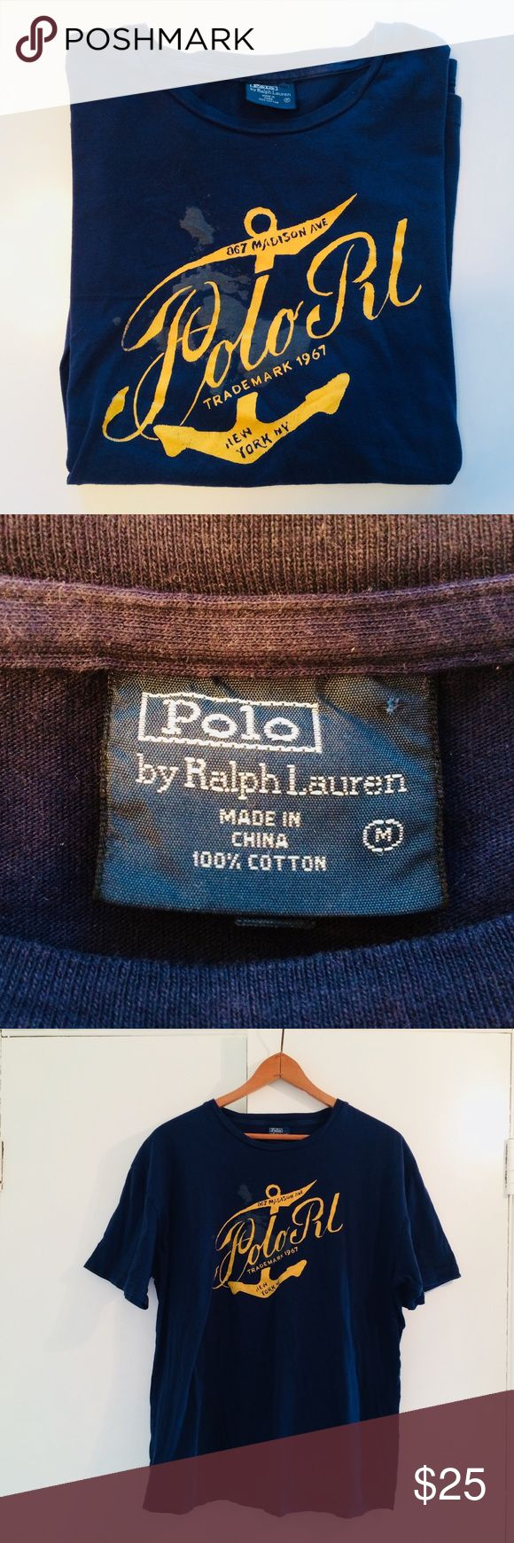 Polo Ralph Lauren - Madison Avenue Shirt - Size M Polo Ralph Lauren - Madison Avenue Shirt - Size M. Awesome condition - has been worn and laundered. No rips, no stains, no tears. GREAT graphic design. Would be great for men or ladies. Polo by Ralph Lauren Shirts Tees - Short Sleeve