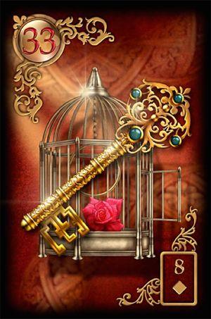33 De Sleutel - Ook in moeilijke situaties bezit je de kracht en mogelijkheden een oplossing te vinden. Geloof in jezelf.