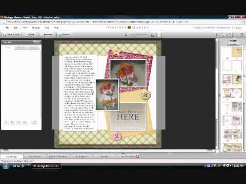 Heritage Makers Template Tutorial
