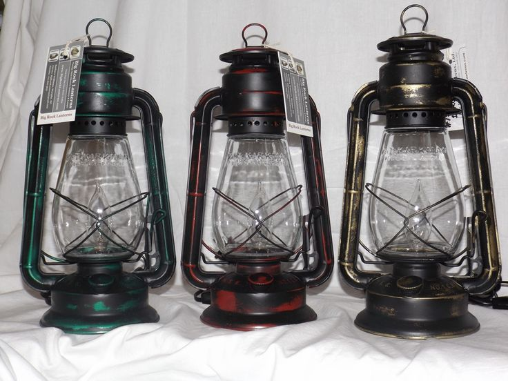 The Little Champ Electric Lantern Table Lamp With Our New Painted Rustic
