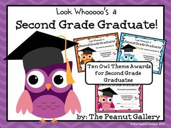 Second Grade Graduation Certificates (Owl Theme) | Owl ...