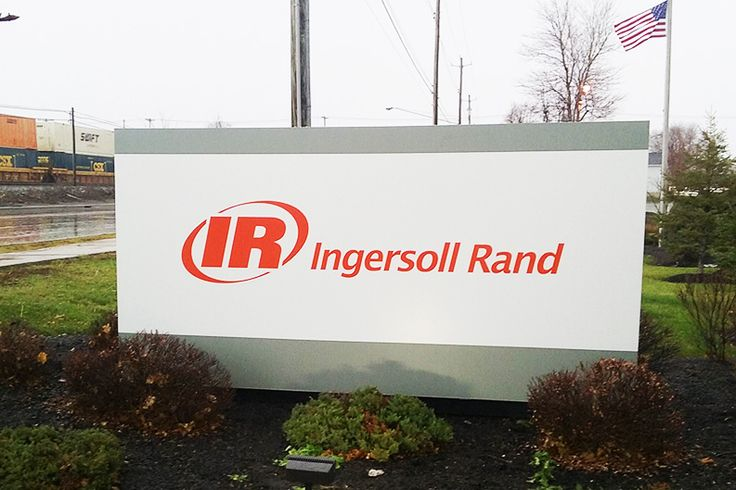 New monument sign install for Ingersoll Rand. http://flexlume.com/new-sign-installation-gallery