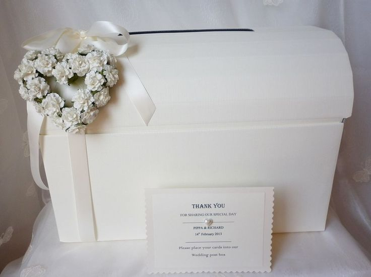 PERSONALISED ROSE HEART SHABBY CHIC CHEST WEDDING ENGAGEMENT CARD POST BOX in Home, Furniture & DIY | eBay