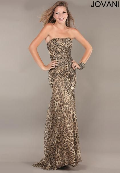 Jovani Cheetah Dress