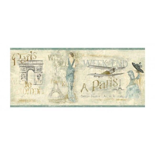 Vintage Paris Wall Borders Home / Weekend In Paris