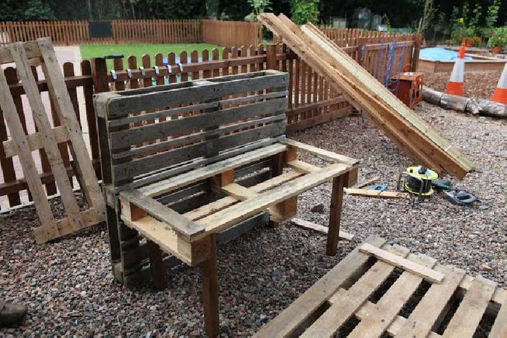 outdoor furniture from pallets instructions