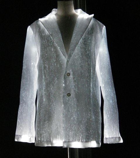Lumi-Jacket from Luminight USA! The USA distributor for LUMINEX(R) material. Customized to your size and liking. You get to choose the fabric color and the light color! Go to www.LumiNightusa.com.