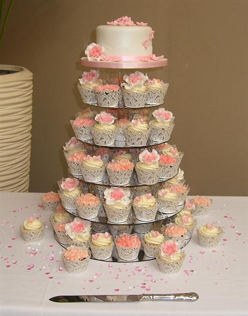 blush pink wedding cake with cupcakes 17 best images about cake on 12058