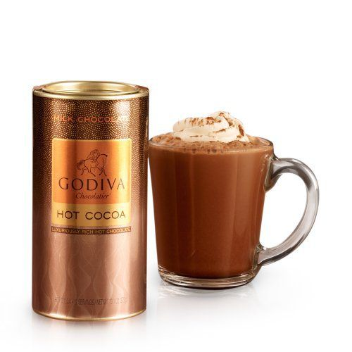 GODIVA Chocolatier Milk Chocolate Hot Cocoa Canister 13.1oz - http://mygourmetgifts.com/godiva-chocolatier-milk-chocolate-hot-cocoa-canister-13-1oz/