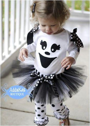 Boutique Ghost Halloween Tutu Costume