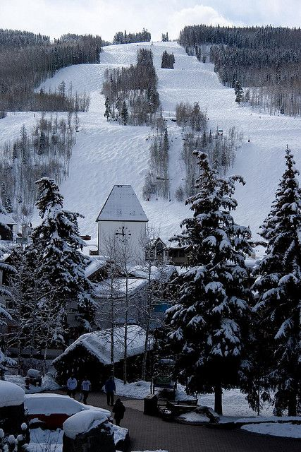 Vail, Colorado - fresh warm chocolate chip cookies at the base! Fun skiing!