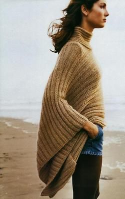 always like knit ponchos on others but never seem to like them on myself...