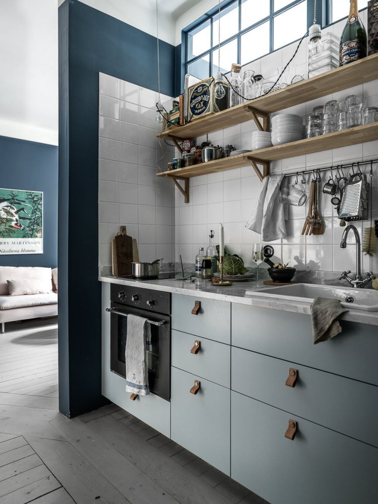 Small blue apartment | photos by Johan Spinnell | more pictures here Follow Gravity Home: Blog - Instagram - Pinterest - Facebook - Shop