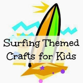 17 best images about surf 39 s up kiddo crafts on pinterest for Surfboard craft for kids
