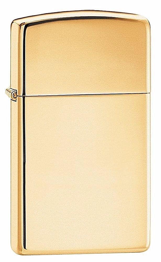 Windproof Zippo Original Slim Pocket Lighter Gift Classic Gold & Free Shipping #Zippo