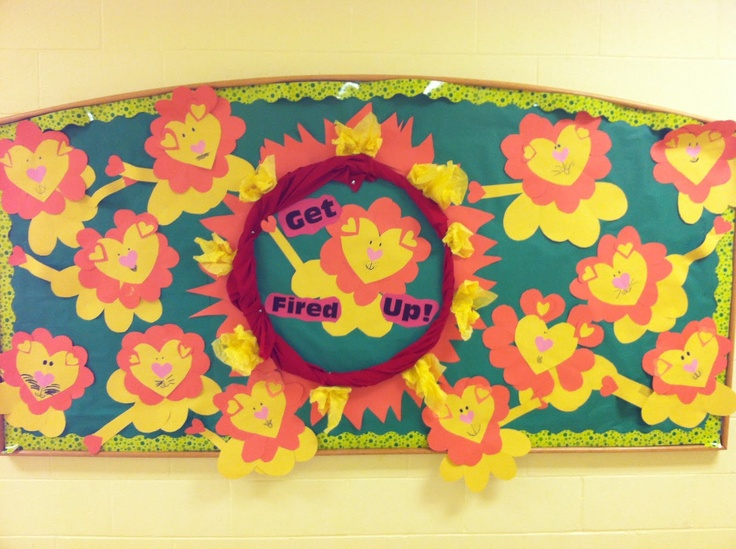 Heart Lion Circus Bulletin Board for spirit week