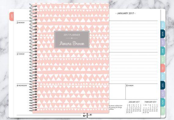 persoonlijke planner 2017 en 2018 kalender  van posypaper op Etsy
