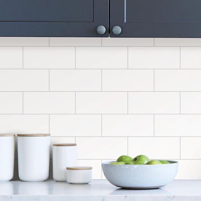 Inhome Metro Tile Peel And Stick Backsplash Lowes Com In 2020 Peel N Stick Backsplash Metro Tiles Stick Tile Backsplash