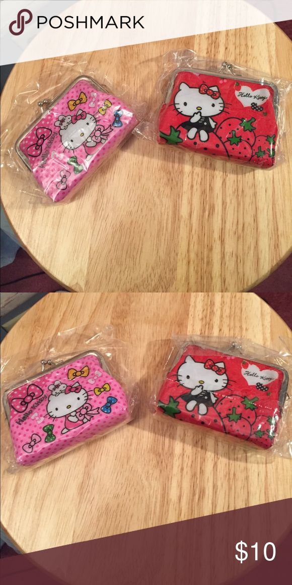 Hello Kitty Purses Hello Kitty Purses new, good for holding coins.. Two for $10.00 , red and pink.... Hello Kitty Other