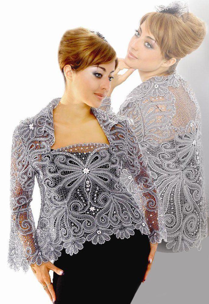 Russian Yelets lace. A beautiful blouse. #beauty #fashion #lace #Russian