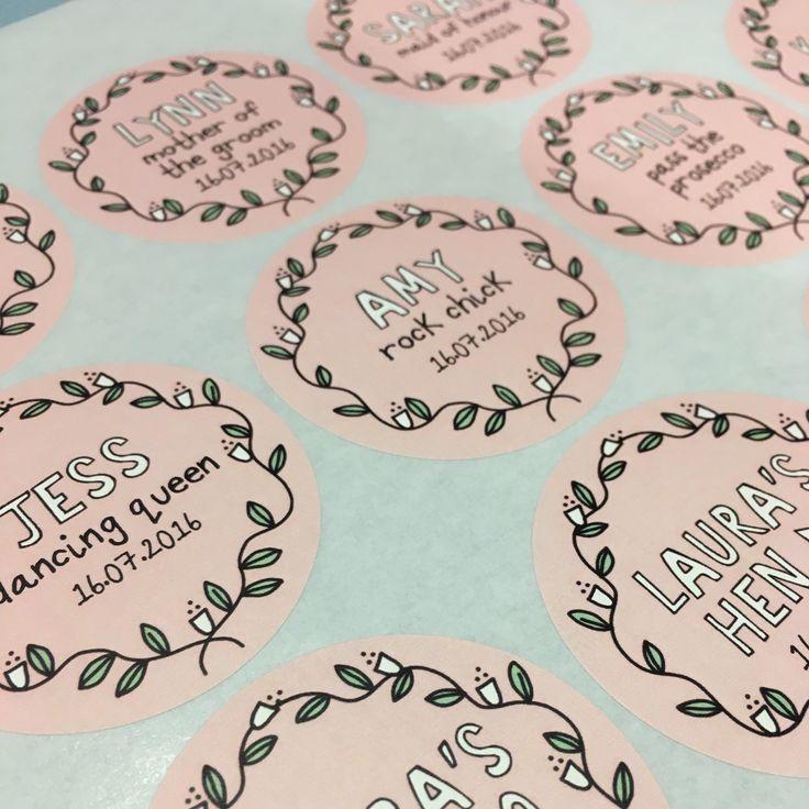 I love these super cute hen do name stickers! So pretty!