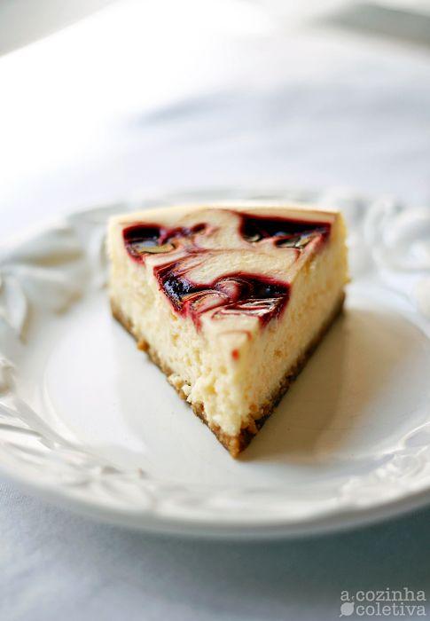 Cheesecake Mesclado de Framboesa