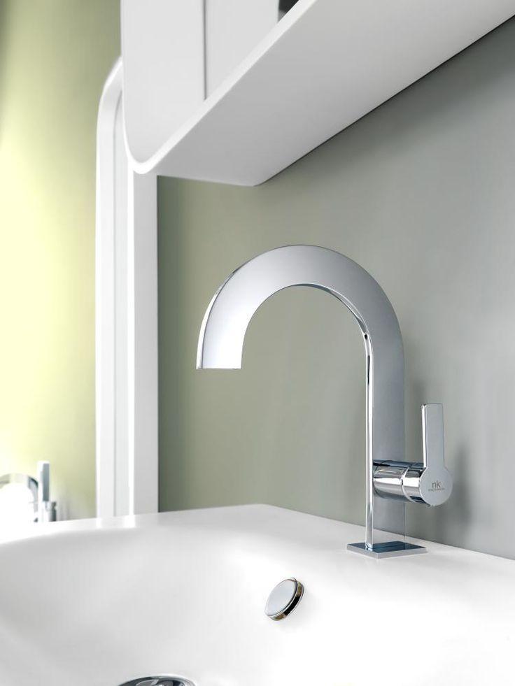 Giro collection for bathroom design.  Sanitaryware Washbasin, taps, Noken Design. Porcelanosa bathroom