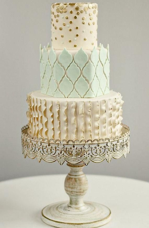 10 Inch Ivory Vintage Cake Stand Vintage Cake Stands Wedding Cake Stands Vintage Cake