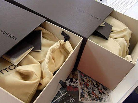 fashion  kanye west x lv packaging details
