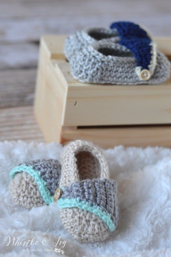 c1d9a719b Baby Boardwalk Slip-ons - Get the crochet pattern for these adorable baby  shoes