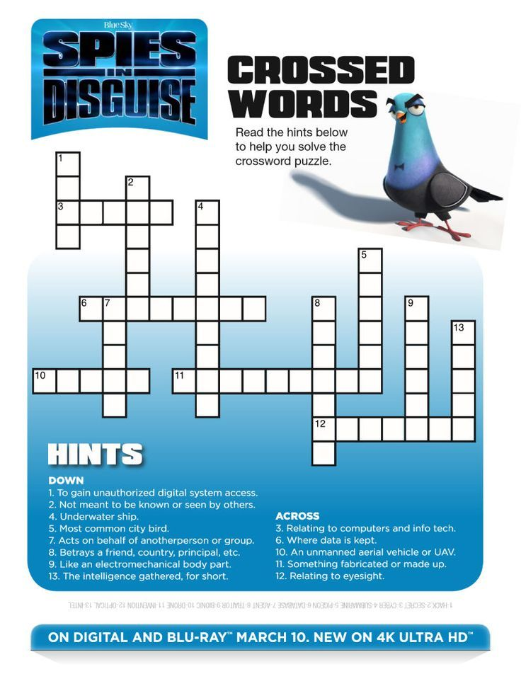 Pin On Crossword Puzzle