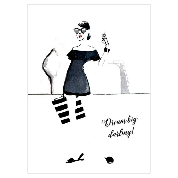 Dream Big Darling Folded Greeting Card