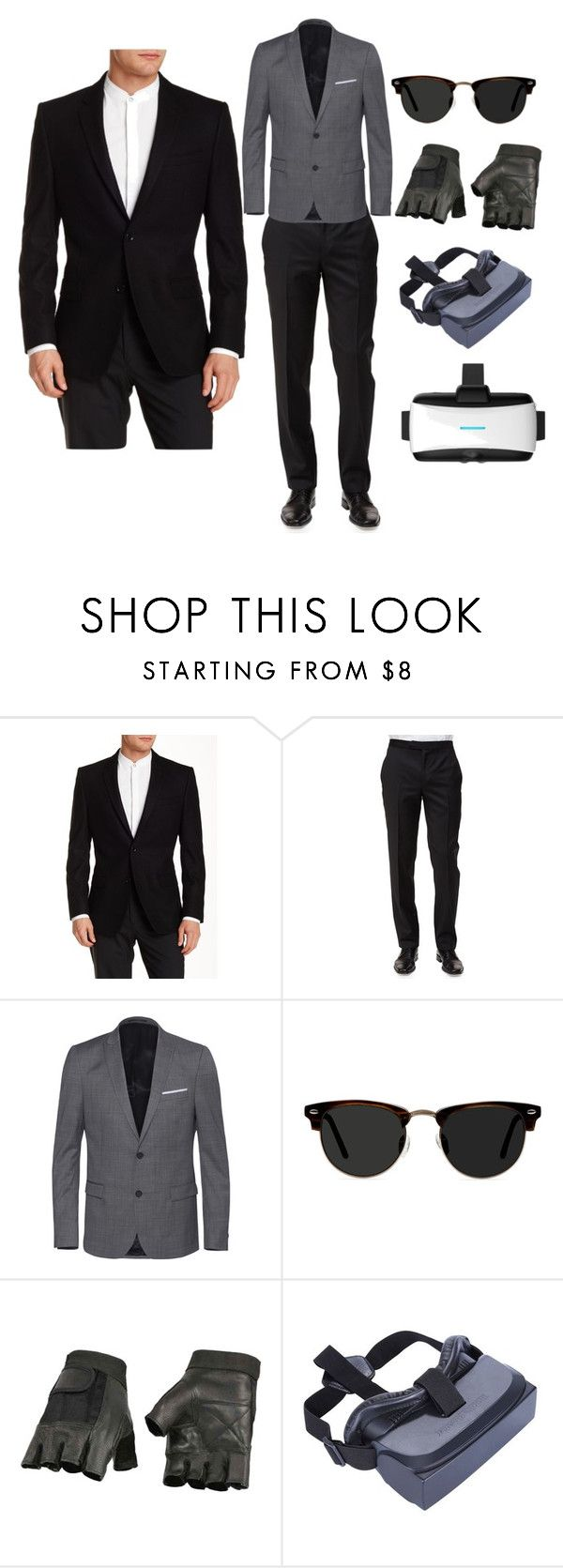 """Father's Day gifts"" by ak-chuck ❤ liked on Polyvore featuring Versace, Ermenegildo Zegna, The Kooples, Ace, men's fashion and menswear"