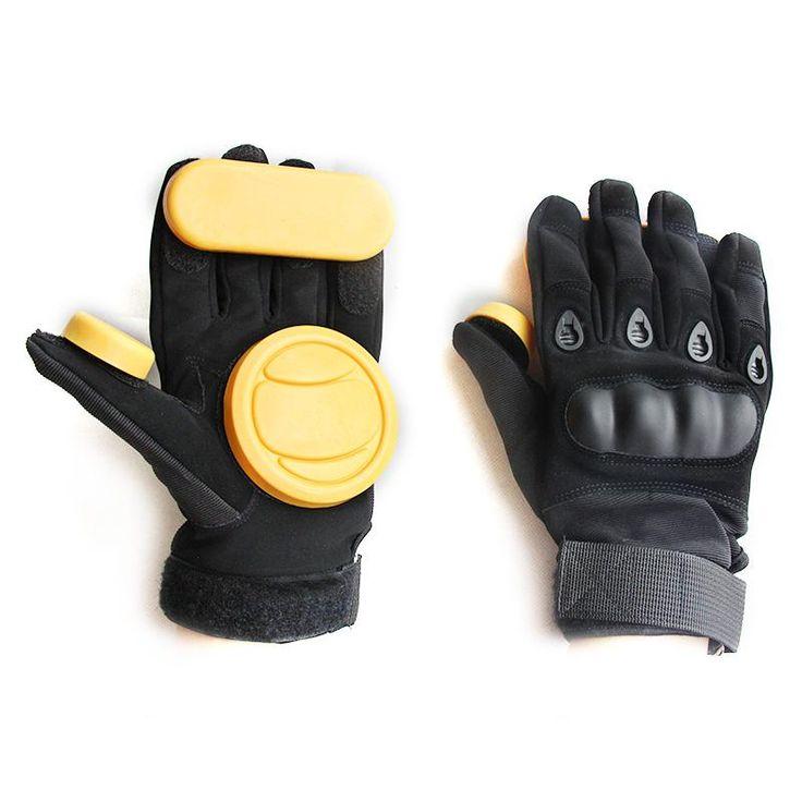 Free shipping downhill skateboard brake parts fashional skateboard skating safety gear protective gloves palm Professional